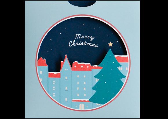 夜更けの<br>クリスマスカード